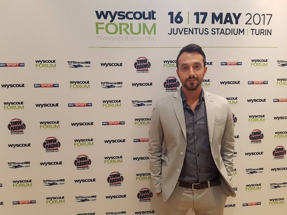Georgi Zahariev during the Wyscout Forum in Turin