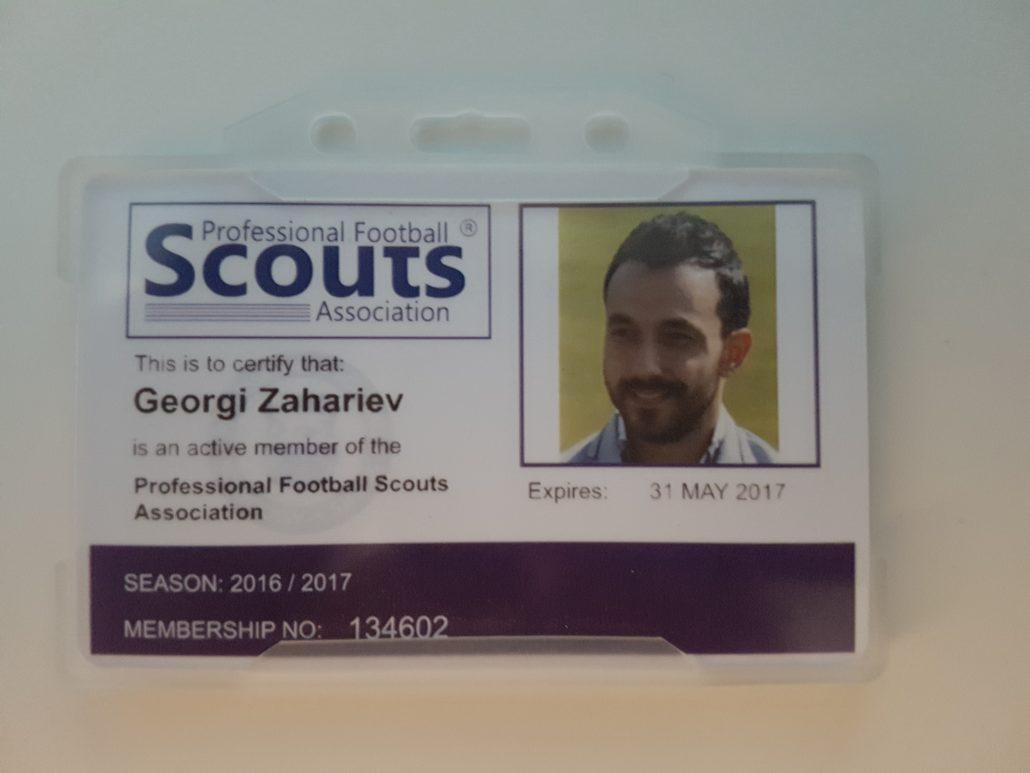 PFSA membership card