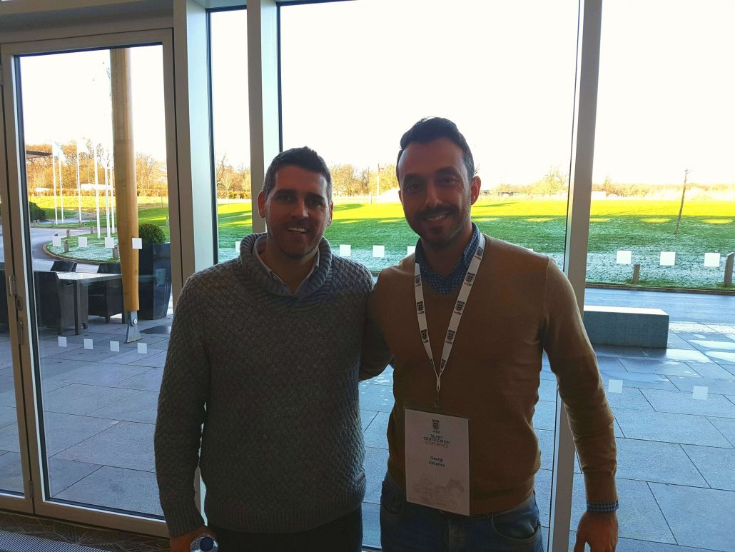 With Pedro Ferreira - Head of talent ID at Benfica