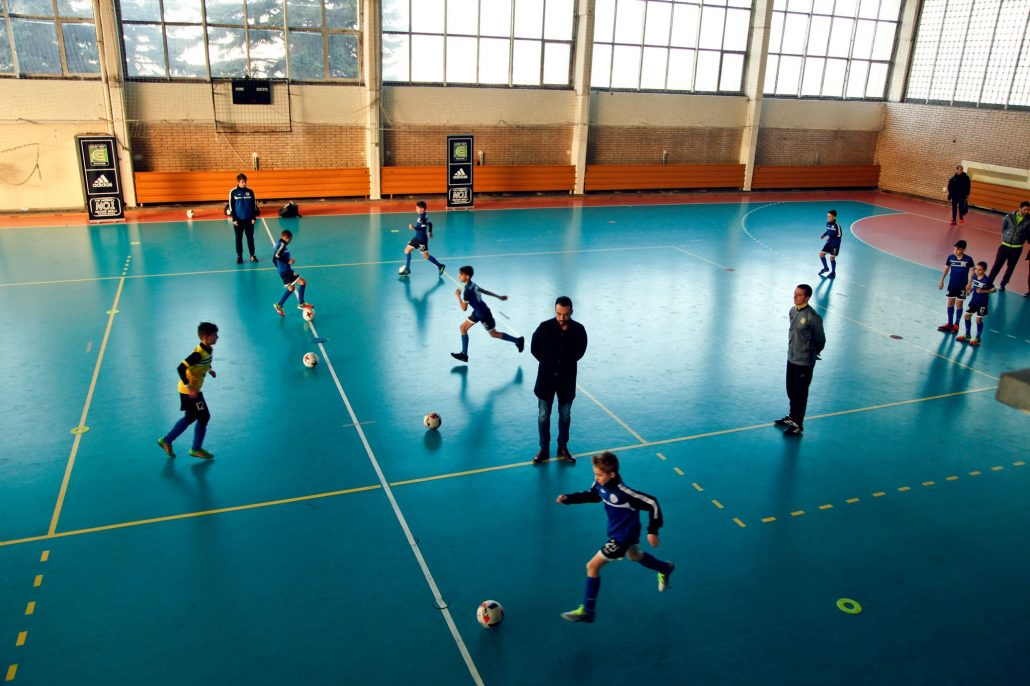Coerver coaching practice session