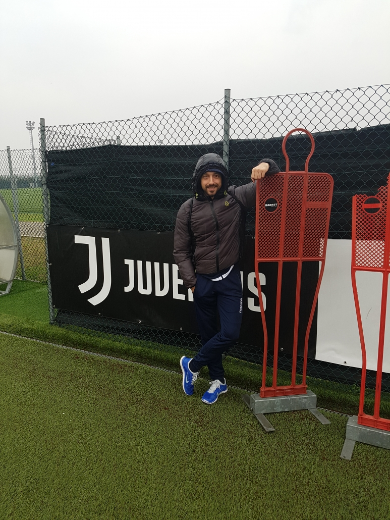 Visiting the training base of Juventus