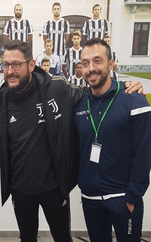 Georgi Zahariev with the Juventus academy director