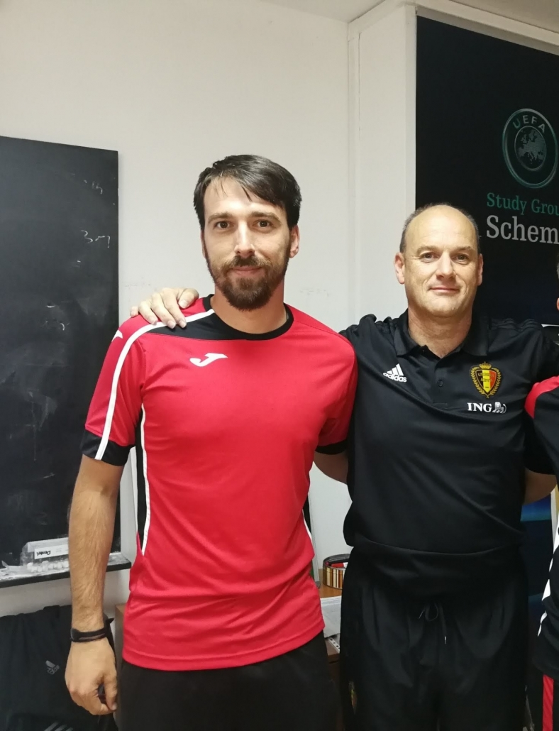 Alexander Zahariev with Belgium U17 National team coach